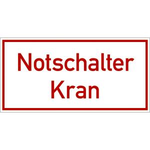 Notschalter Kran