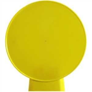 Schildaufsatz für Warnaufsteller PYRAMID rund - blanko