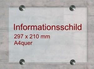 Infoschild aus Einscheibensicherheitsglas
