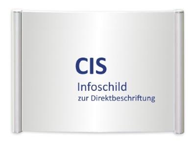CIS Infoschild, Schraubmontage, Direktbeschriftung