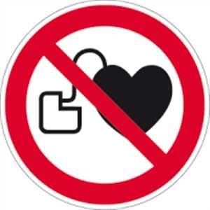Kein Zutritt für Personen mit Herzschrittmachern
