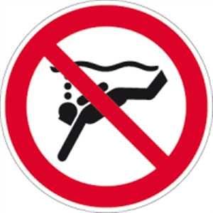 Geräte-Tauchen verboten