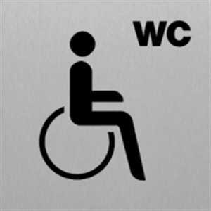 Toilette Rollstuhlfahrer - Piktogramm für Edlen Wegweiser