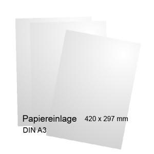 Papiereinlage für Etagenschild DIN A3 - Modell Orlando