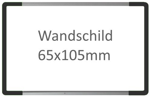 Wandschild Signcode antrazit, papierflexibel