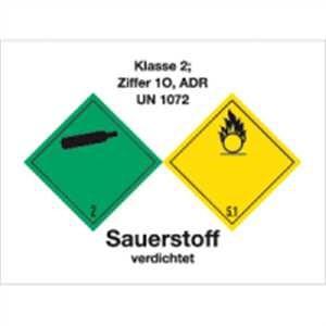 Gefahrgutaufkleber Klasse 2