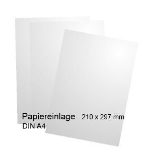 Papiereinlage für Etagenschild DIN A4 - Modell Orlando