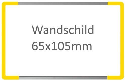 Wandschild Signcode gelb, Fixbeschriftung