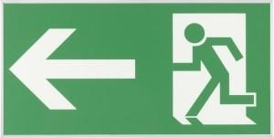 Fluchtwegeschild