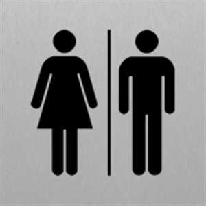 Toilette Damen/Herren - Piktogramm für Edlen Wegweiser