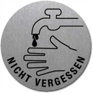 Piktogramm - Hände waschen nicht vergessen