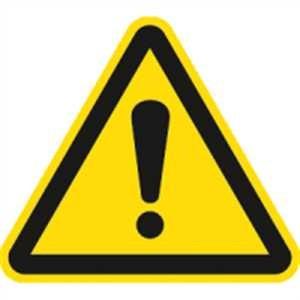 Warnung vor einer Gefahrenstelle