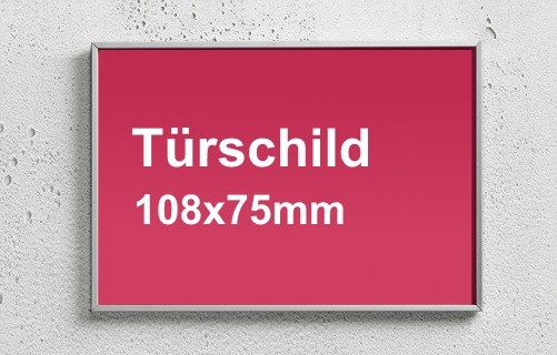 Türschild 108x75mm