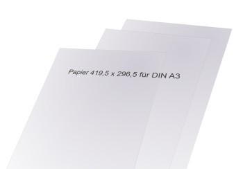 Madrid Papiereinlagen für Schilder DIN A3