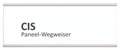 CIS Paneel-Wegweiser, Schraubmontage