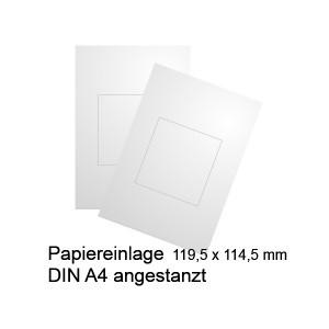 Papiereinlagen für Türschild 120