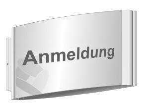 Fahnenschild 148 x 180 mm