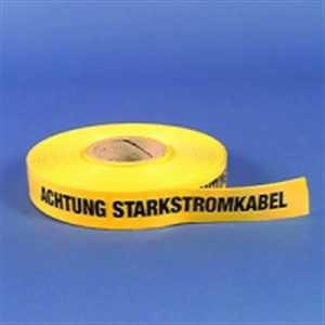 Trassenwarnband - Achtung Starkstromkabel