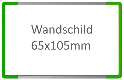 Wandschild Signcode grün, Dirketbeschriftung