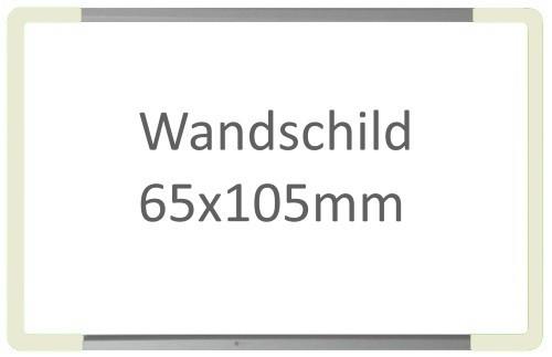 Wandschild Signcode weiss, papierflexibel