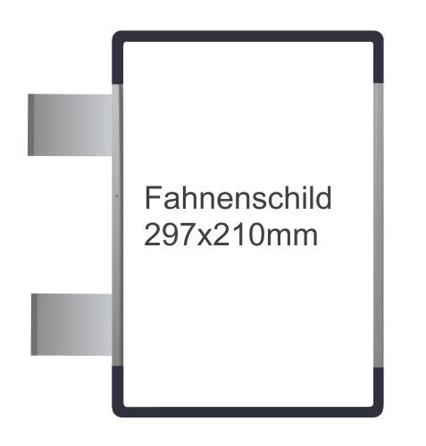 Fahnenschild Signcode antrazit, papierflexibel
