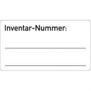 Inventar-Etiketten