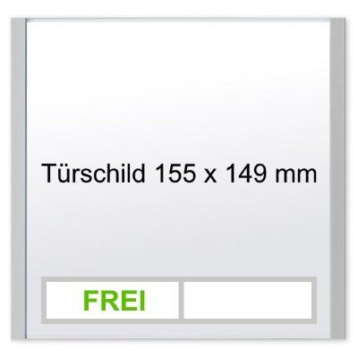 KRISTALLINO.s - Türschild Frei | Besetzt, Klebemontage