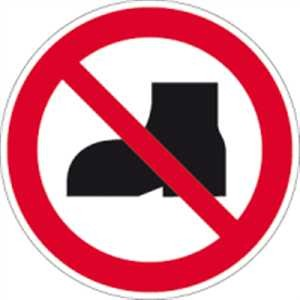 Tragen von Straßenschuhen verboten
