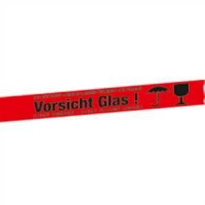 Packband rot - Vorsicht Glas