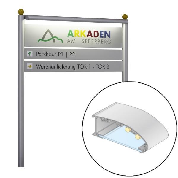 Berlin Basic LED Beleuchtungsprofil, doppelseitig