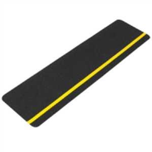 Antirutsch-Formteil - universal, schwarz , Streifen gelb