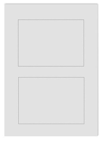 Tansparentpapier satiniert A4, perforiert (2xA6)