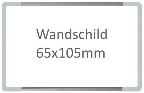 Wandschild Signcode hellgrau, papierflexibel