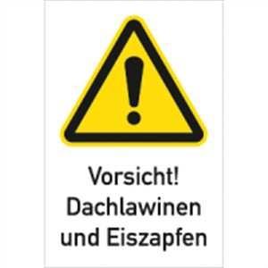 Vorsicht! Dachlawinen und Eiszapfen