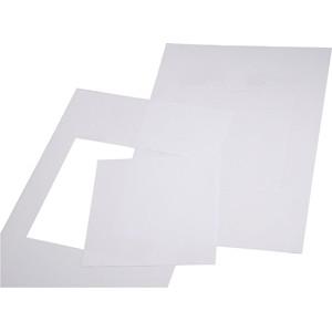 Papier A4 weiss für Schilder 105 x 105 mm