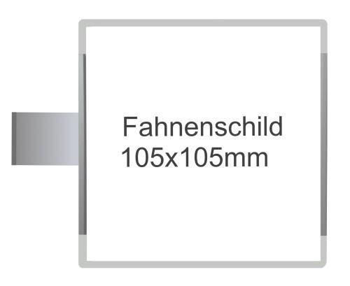 Fahnenschild Signcode grau, papierflexibel