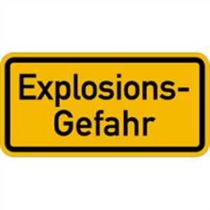 Warnschild - Explosionsgefahr